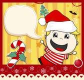 Niño de la tarjeta de Navidad Imagenes de archivo