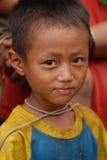 Niño de la tribu de la colina Foto de archivo libre de regalías
