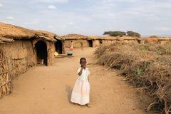 Niño de la tribu del Masai Fotos de archivo libres de regalías