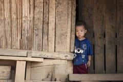 Niño de Laos fotografía de archivo