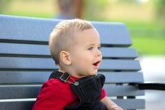 Niño de los ojos azules Foto de archivo libre de regalías