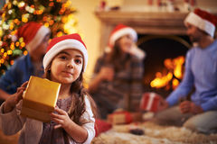 Niño de Papá Noel Imagenes de archivo