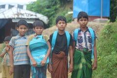 Niño de Rohingyas, estudiante del refugiado de Rohingy imagen de archivo libre de regalías