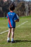 Niño de Rugbyman Fotografía de archivo