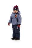 Niño de tres en ropa del invierno Fotografía de archivo