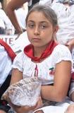 Niño de tuercas de la pizca de Polizzi Generosa fotos de archivo