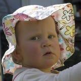 Niño del bebé con el sombrero del sol Fotos de archivo