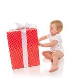 Niño 2016 del bebé del niño del concepto del Año Nuevo con los pres de la Navidad Fotografía de archivo