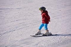 Niño del esquí Foto de archivo