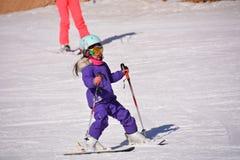 Niño del esquí Fotos de archivo