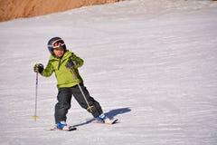 Niño del esquí Imagenes de archivo