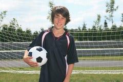 Niño del fútbol Fotografía de archivo
