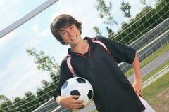 Niño del fútbol Imágenes de archivo libres de regalías