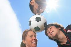 Niño del fútbol Fotografía de archivo libre de regalías