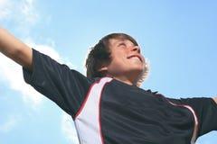 Niño del fútbol Fotos de archivo libres de regalías