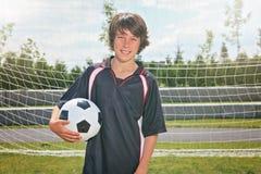 Niño del fútbol Fotos de archivo
