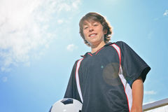 Niño del fútbol Foto de archivo