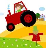 Niño del granjero stock de ilustración