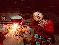 Niño del h&#x27 negro; tribu del mong Fotos de archivo