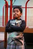 Niño del inmigrante de Madrid Fotos de archivo