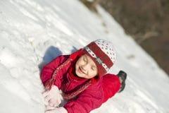 Niño del invierno Foto de archivo