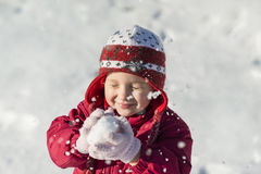 Niño del invierno Fotos de archivo