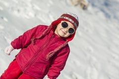 Niño del invierno Fotografía de archivo