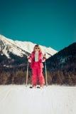 Niño del invierno del deporte Imagen de archivo libre de regalías