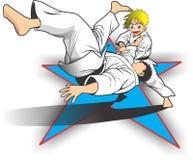Niño del judo imagenes de archivo