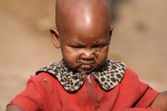 Niño del Masai Imágenes de archivo libres de regalías