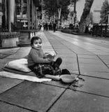Niño del mendigo Fotografía de archivo
