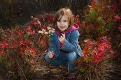 Niño del otoño Imagenes de archivo