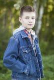 Niño 11 del otoño Foto de archivo