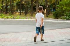 Niño 11 del otoño Fotografía de archivo