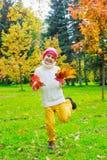 Niño 11 del otoño Fotografía de archivo libre de regalías