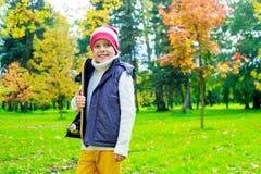 Niño 11 del otoño fotos de archivo libres de regalías