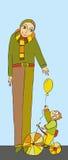 Niño del padre Imagen de archivo libre de regalías