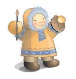Niño del siberiano del ejemplo del vector Imagen de archivo