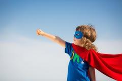 Niño del super héroe Foto de archivo libre de regalías