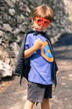 Niño del superhéroe Imagen de archivo libre de regalías
