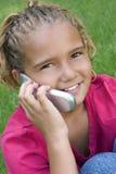 Niño del teléfono Foto de archivo libre de regalías