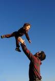 Niño del vuelo Foto de archivo libre de regalías