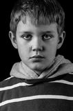 Niño deprimido Fotos de archivo