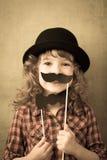 Niño divertido del inconformista Foto de archivo