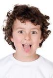 Niño divertido que imita Imagen de archivo libre de regalías