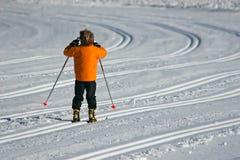Niño durante el invierno Fotografía de archivo libre de regalías