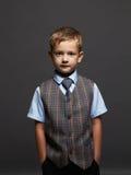 niño elegante en traje y lazo Foto de archivo libre de regalías