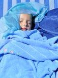 Niño en azul Imagen de archivo libre de regalías