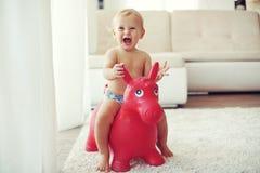Niño en casa Fotos de archivo libres de regalías