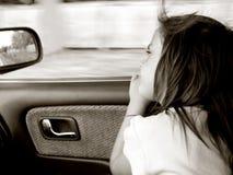 Niño en coche Fotos de archivo libres de regalías